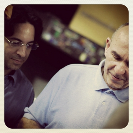 Peter Molyneux and myself. Photo by Nir Miretzky.