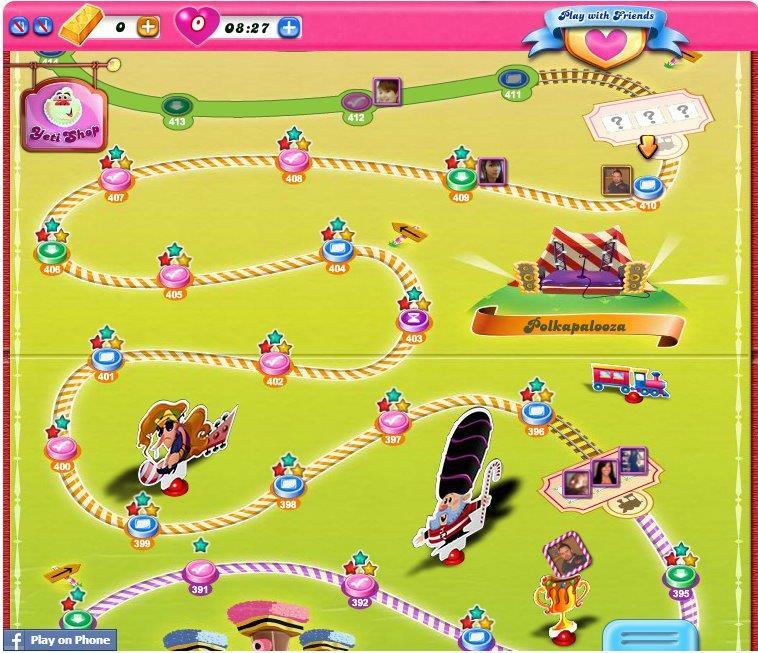 Candy Crush Saga Map