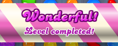 Candy Crush Level Completed