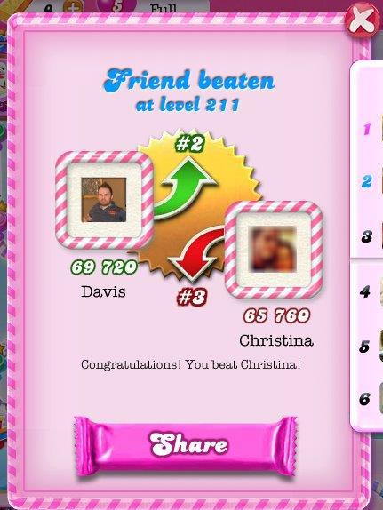 Candy Crush: Beat a Friend