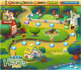 Farm Heroes: Map