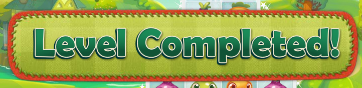 Farm Heroes Level Completed