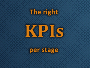 The right KPIS per stage